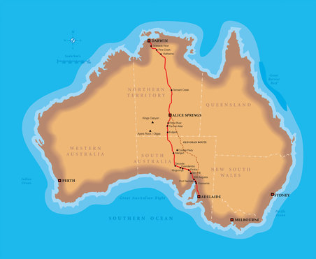 The Ghan - Route